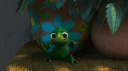 Pascal the Cute Chameleon from Disney's Tangled wallpaperClick 1492