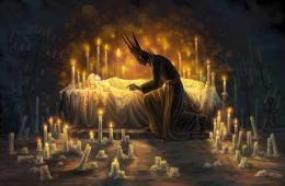Dark prince sleeping beauty fantasy candles HD Wallpaper 1517