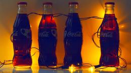 Coca Cola Glow With Light Bulbs Hd Wallpaper | Wallpaper List 1627