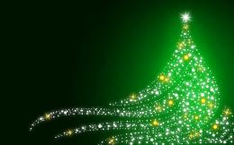 Christmas wallpapers Shimmering Christmas tree on Christmasgreen 588