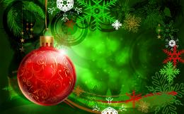 Green Christmas Ornaments WallpaperredHD Wallpapers 1784