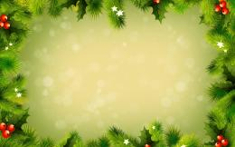 Green christmas decorations wallpaper 191