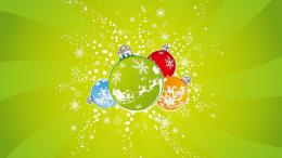 Wallpapers BackgroundsGreen happy Wallpaper Christmas balls middle 1376