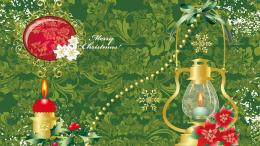 Green Merry Christmas wallpaper candles flowers decorations 364