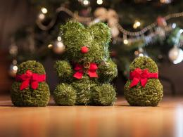 Christmas decor funny bow cute green HD Wallpaper 409