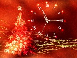 christmas clock screensaver features christmas clock christmas tree 999