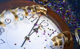 Clock, New Year, Midnight, Arrows, Tinsel, Confetti, Holidays | Free 1535