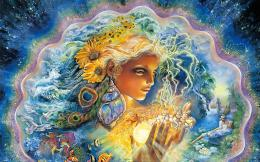 josephine wall fantasy god goddess artistic face colors psychedelic 872