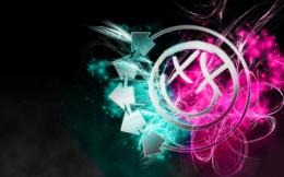 Psychedelic smiley face Blink 182 color splash wallpaper | 2560x1600 151