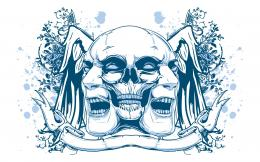 Psychedelic Skull & Faces wallpaper548077 1220