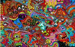 Psychedelic Faces wallpaper 1072