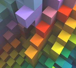 Multicolor cubes red 3d blue purple orange wallpaper 386