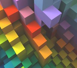 Multicolor cubes red 3d blue purple orange HD Wallpaper 437
