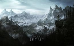 Background The Elder Scrolls Skyrim Game Rocks Winter Snow Wallpaper 793