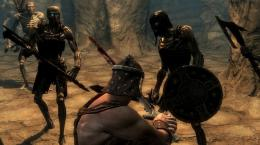 The Elder Scrolls V Skyrim Video Game Fight HD WallpaperStylish HD 420
