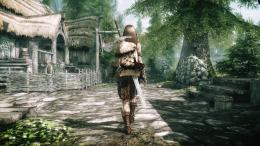 Download The Elder Scrolls V Skyrim Game Girl Character Wallpaper 1828