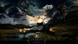 Download The Elder Scrolls V Skyrim Video Game Poster Wallpaper 1780
