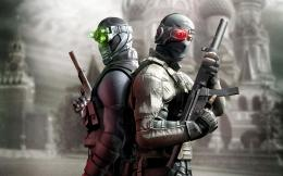Two armed soldiers holding guns in game Splinter Cell: Conviction 985