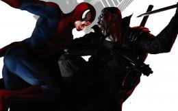 Spider Man Noir Wallpaper Blade vs spider man wallpaper 1404