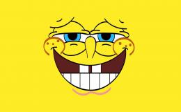 SpongeBob SquarePants Smile Cartoon Wallpaper HD 1920x1200 widescreen 327