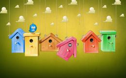 cartoon wallpaper bird house colorful | HD Wallpapers 266