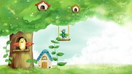 download summer birds birdhouses wallpaper in cartoon anime wallpapers 371