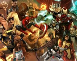 Superheroes in Marvel comics wallpaper 982