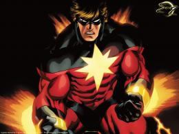 "Marvel superhero wallpaper "" CAPTAIN MARVEL \"" 1023"