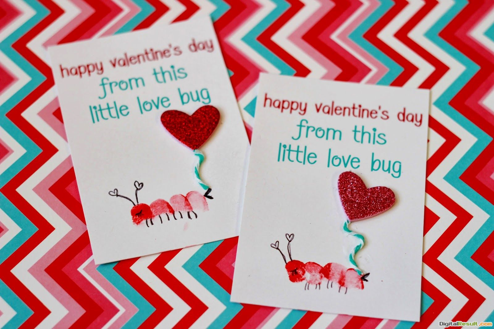 """Delightfully Noted: \""""Love Bug\"""" Thumbprint Valentines 131"""