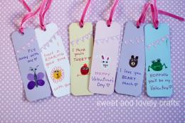 thumbprint Valentine Day bookmarks 123