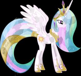 crystal princess celestia by vector brony digital art vector fantasy 601