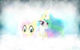 Fluttershy and Celestia Wallpaper by EkkitaTheFilly on deviantART 1139