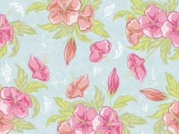 Download Classic Floral Vintage Design Wallpaper 534