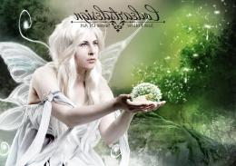 White fairy wings fantasy abstract wallpaper 1766