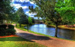 Beautiful park by the river wallpaper 1920x1200 455