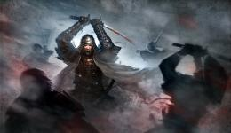 Samurai warrior japanese sword blood katana HD Wallpaper 1317