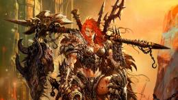 armor, barbarian, artwork, Diablo III, female warriors :: Wallpapers 1599