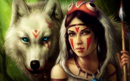 Women Blood Princess Mononoke Fantasy Art Warriors : Wallpapers13 com 426
