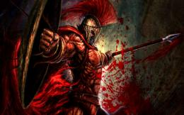 Bloody Warrior Battle Fantasy Abstract hd wallpaper #430218 859