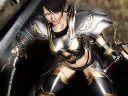 Female warrior wallpaper waving sword the bloodWallpapers 3d for 675