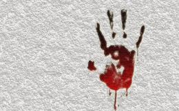 Bloody Handprint Hd Wallpaper | Wallpaper List 1789