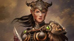 Bloody female warrior wallpaper #41827 1526