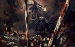 art battle dark warriors weapons sword blood wallpaper background 988