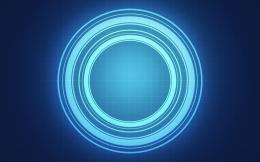 abstract blue circle light wallpaper background 1281