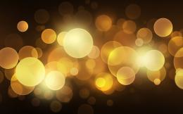 Golden circles of light wallpaper #17107 488