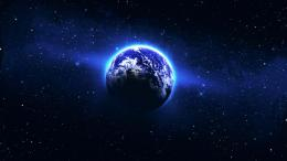 Circle of blue light around the Earth Wallpaper #9141 1696