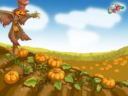 Pumpkin fields patch halloween scarecrow wallpaper 1179