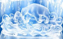 Pics PhotosPolar Bear Ice Sculpture 1384 Wallpapers Top 399