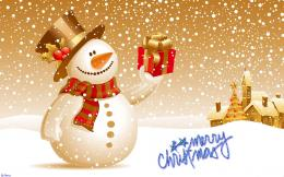 HomeHolidaysChristmasMerry Christmas snowman HD wallpaper 1862
