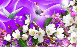 Download Purple Butterflies wallpaper in 3DAbstract wallpapers with 1665